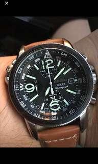 Seiko Solar chronograph