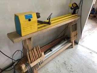 Lathe for wood