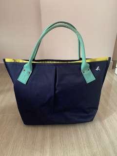 Agnes B Canvas Bag Tri-colour