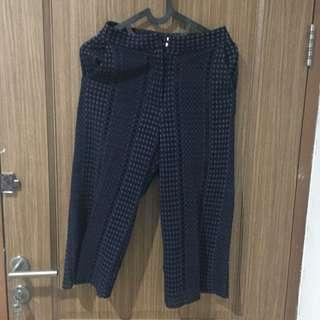 Navy lace pants by the executive