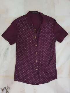Maroon Buttoned Shirt