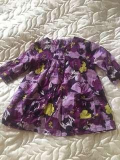 Carters floral top 18-24 mos