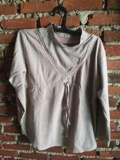 Baju atasan bahan buludru