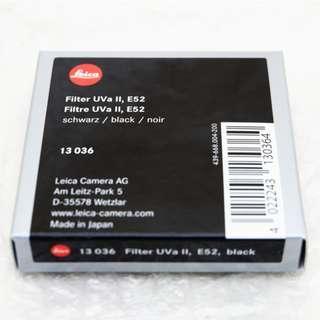 """Leica Filter 52UVa II """"LIKE NEW"""""""