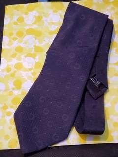 Gucci 深藍色 Logo Tie