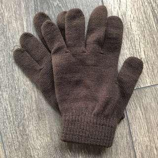 FREE Old Navy Brown Gloves