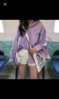 🚚 (已售出)🇰🇷韓妞紫色襯衫 💜