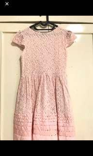 Brukat dress pink peach
