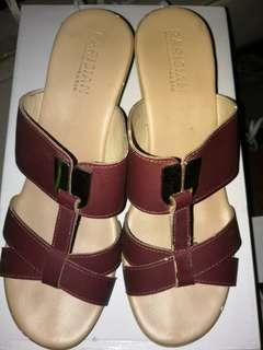 Maroon Sandals with Heels by Parisian