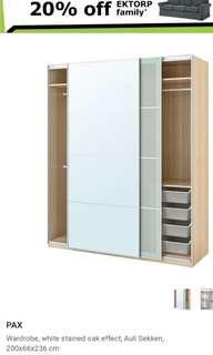 IKEA (not full Closet) DOOR only *** with bracket