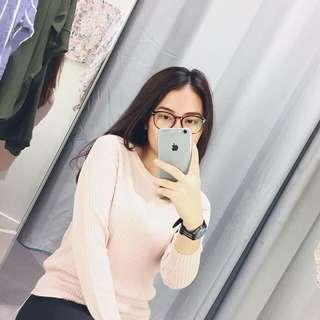 H&M PINK LONG SLEEVE SWEATER