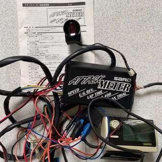 SARD Attack Meter, RPM, Shift Light, Speed, Speed Cut, Rev Limiter, 0-100M, 0-400M
