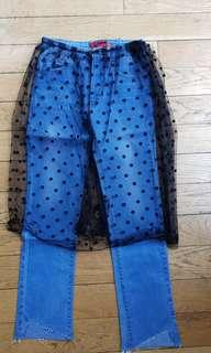 COOL tulle over jeans