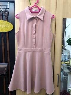 Pink dress with collar