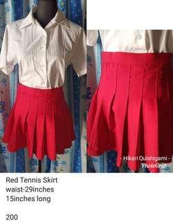 Red Tennis Skirt