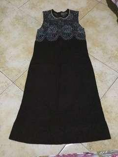 Dress brown knitted