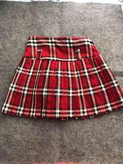 全新格仔短裙