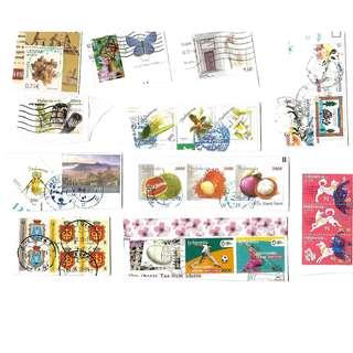 Assorted used stamps