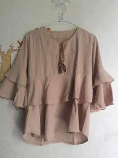 Blouse Terompet Mocca