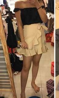 New beige skirt