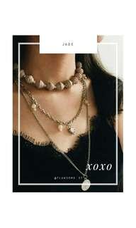 Kalung 3 layer , jade necklace layer