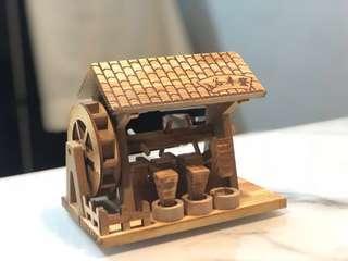 Chinese new year hand make wooden Auspicious furnishings