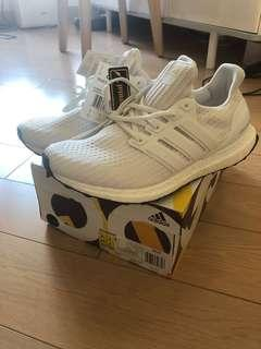 Adidas Ultra Boost All White US 9.5 100%new