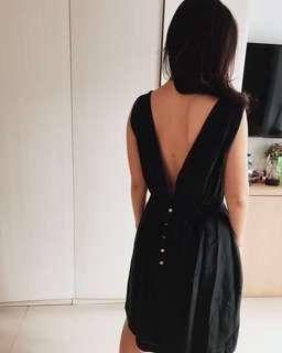 Backless black mango dress