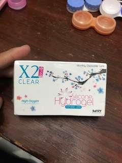 X2 Hydrogel Clear Softlens -0,75