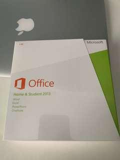 Sealed Microsoft Office Home and Student suite