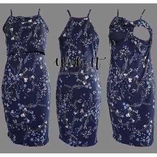 Eryn Nursing & Maternity Dress (Black Floral)