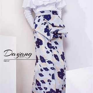 Wardrobe2UKL Dayang Brocade Skirt Ruffles