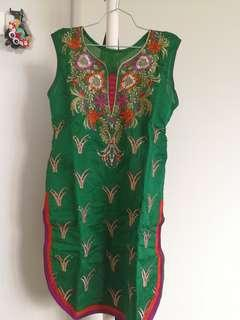 Green lady indian costume top and leggings