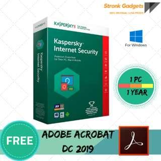 KASPERSKY PREMIUM INTERNET SECURITY 2019 FOR PC 1 YEAR