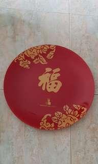 Big Red Glass Plate