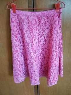 Fuchsia A Line Skirt