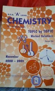 GCE A LEVEL CHEMISTRY 2000-2009