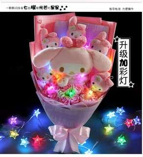🚚 (LAST LEFT) My Melody Bouquet w LED Lights