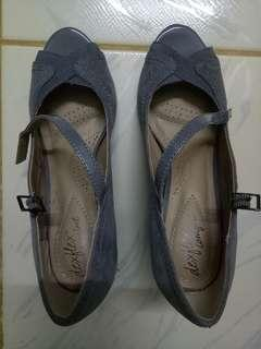 Grey heels from Payless Size 6
