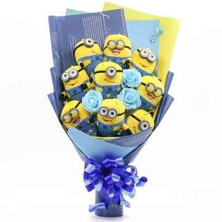 🚚 Minions Bouquet Gifts