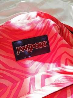 Original Jansport Pink Zebra backpack