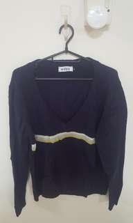 Brand new Navy Blue Plus size low neck wool