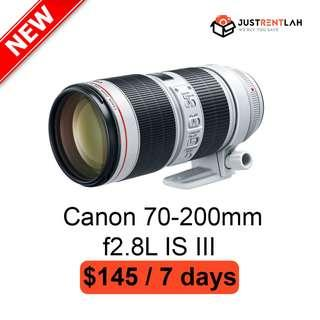 [RENT] Canon EF 70-200mm f/2.8L IS III USM Lens