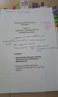 (TP/PHS) APH3007- pharamceutical analysis