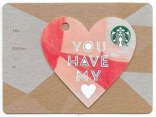 Starbucks 2015 Valentines Card