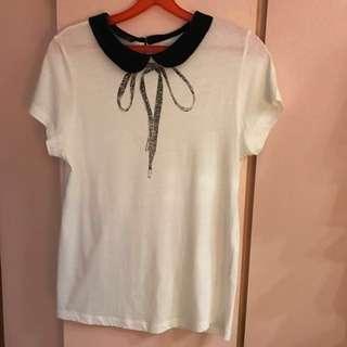Topshop Collar Blouse. Size 38. Us 6. U.K. 10