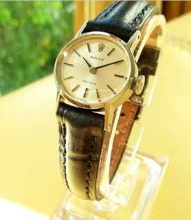Rolex Precision Ladies Mini Size Silver Dial