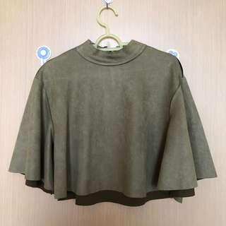 Green Suede Blouse