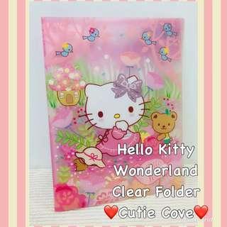*IN STOCK IN SG* Hello Kitty Wonderland Clear Folder
