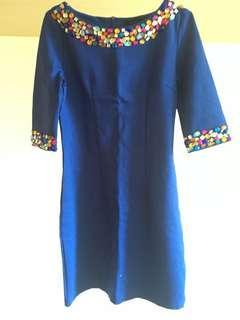 Cut label Blue Dress